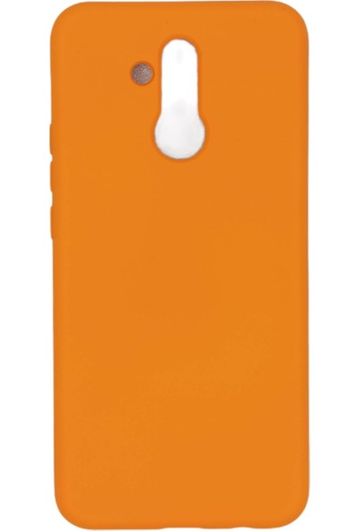 Merwish Case Huawei Mate 20 Lite Içi Kadife Soft Lansman Silikon Kılıf Turuncu