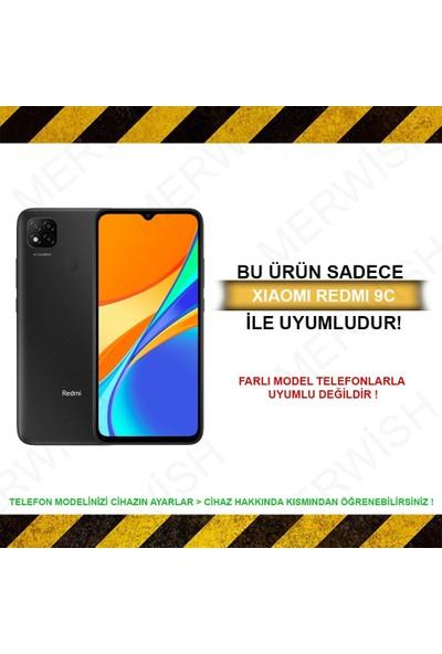 Merwish Case Xiaomi Redmi 9c Içi Kadife Soft Lansman Silikon Kılıf Siyah