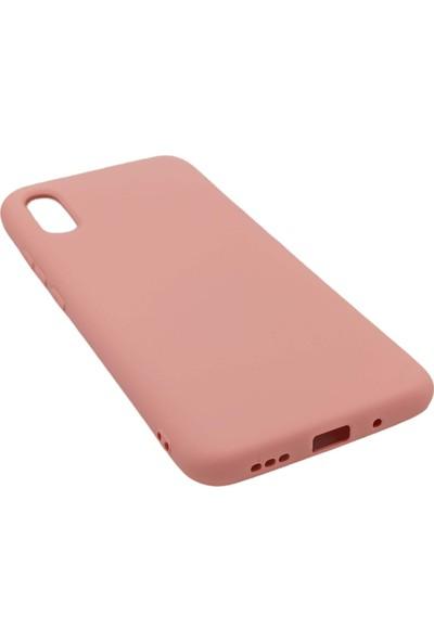 Merwish Case Xiaomi Redmi 9A Içi Kadife Soft Lansman Silikon Kılıf Pembe