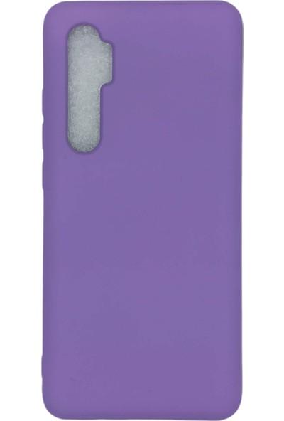 Merwish Case Xiaomi Mi Note 10 Lite Içi Kadife Soft Lansman Silikon Kılıf Mor