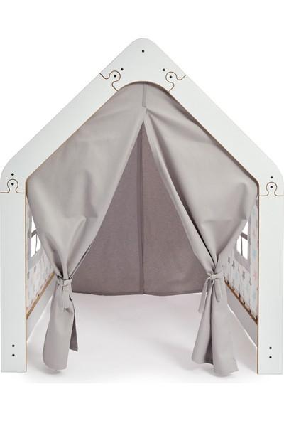 Çocuk Oyun Evi / Çadırı - Beyaz Pembe