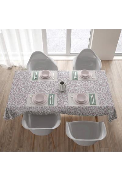 Kos Desenli Masa Örtüsü Sıvı Geçirmez Yıkanabilir Masa Örtüsü - 135 x 175 cm