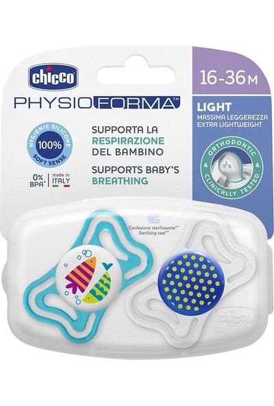 Chicco Physio Light Silikon Emzik 16 - 36 Ay 2li