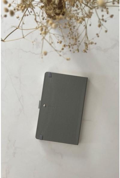 Pigmento Home Decor Arwey Baer, Gri Not Defteri, Aylık Planlayıcı, 256 Sayfa 13,5 x 21,5 cm