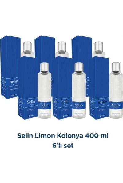 Selin Limon Kolonyası Pet 400 ml 6'lı Set 80 Derece
