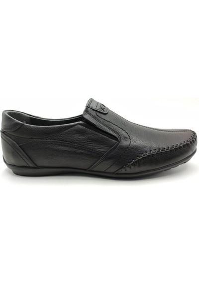 Artmen Plus Serisi Hakiki Deri Makosen Erkek Siyah Günlük Ayakkabı