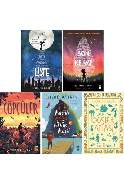 Genç Timaş 5 Kitap Set 5. 6. 7. 8. Sınıflar Ortaokul Okuma Kitapları / Liste - Son Kelime - Çöpçüler - Küçük Yıldız Büyük Keşif - Düşler Atlası