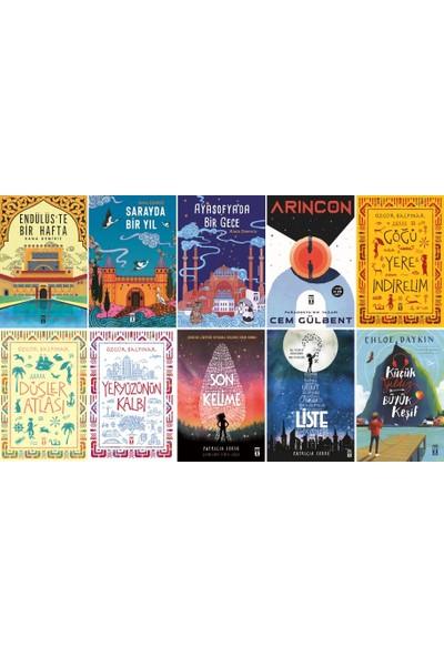 Genç Timaş 10 Kitap Set 5. 6. 7. 8. Sınıflar Ortaokul Okuma Kitapları / Endülüs'te Bir Hafta - Göğü Yere Indirelim - Liste - Son Kelime - Ayasofya'da Bir Gece - Düşler Atlası
