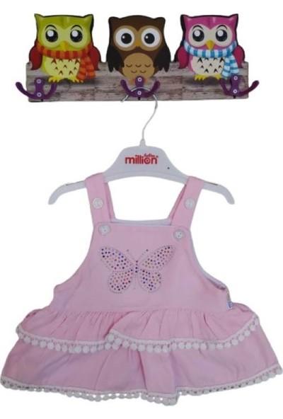 Baby Kız Bebe Kelebekli Pudra Elbise
