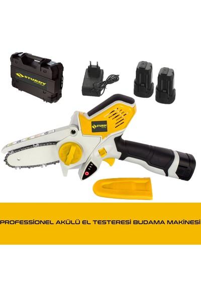 Sturdy Magic Saw X-Torq 1800 Li-On Akülü Dal Kesme Çift Akülü Testere Bıçkı Makinası