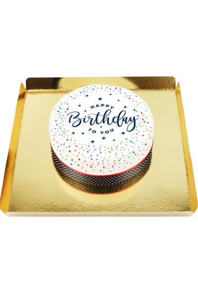 Nuga Birthday Cake Doğum Günü Pastası (10 Dilim Parça Çikolatalı)