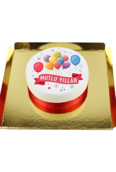 Nuga Mutlu Yıllar Pastası (10 Dilim Parça Çikolatalı)