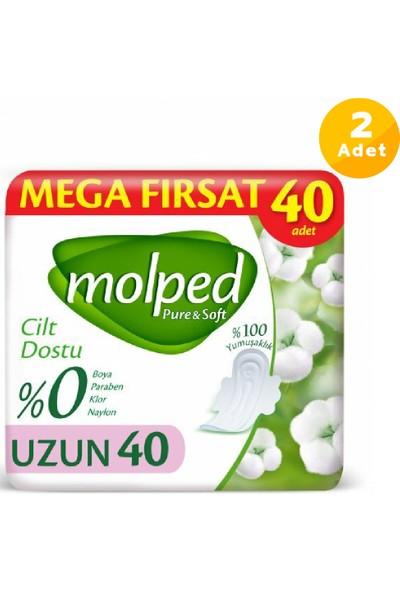 Molped Pure Soft Hijyenik Ped Uzun Mega Fırsat 40\'lı 2 Paket