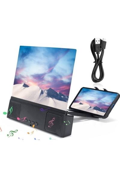 Bluetoothlu Telefon Ekran Büyütücüsü 3D Mercekli