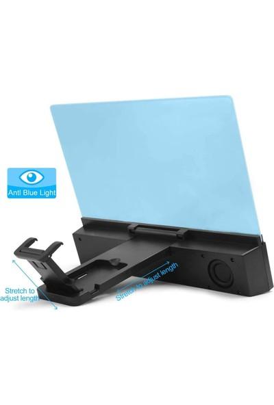 Telefon Ekran Büyütücülü Genişletici Bluetooth Hoparlörlü 12 Inch