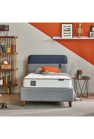 Yataş Bedding Loris Sandıklı Yatak Baza Başlık Genç Seti Multi Yatak Tek Kişilik 90x190 cm Mavi Lacivert