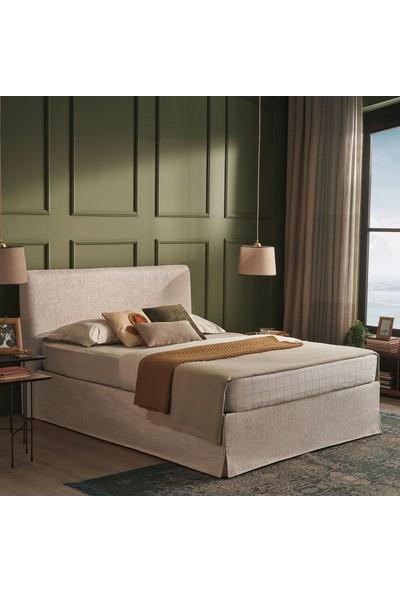 Yataş Bedding Sophia Baza Başlık Seti Tek Kişilik 90x190 cm Ekru