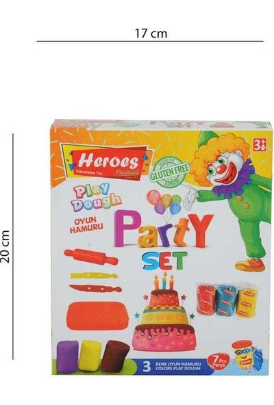Heroes Play Dough 3 Renk Oyun Hamuru Party Seti