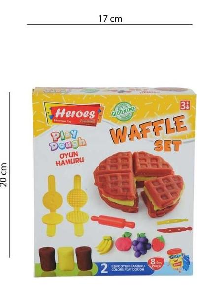 Heroes Play Dough 3 Renk Oyun Hamuru Waffle Seti