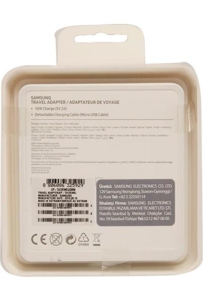Samsung TA12 Micro Seyahat Şarjı Beyaz (Samsung Türkiye Garantili)