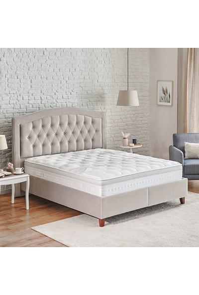 Yataş Bedding Tesla Sleep  Lorenz Lisbon 3'lü Yatak Baza Başlık Set Çift Kişilik 150x200 cm Bej