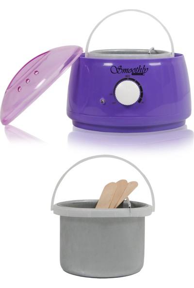 Smoothly Isı Ayarlı Sir Ağda Makinesi, Kalıp Ağda Boncuk Ağda Konserve Ağda Uyumlu Ağda Kazanı Mor Renk