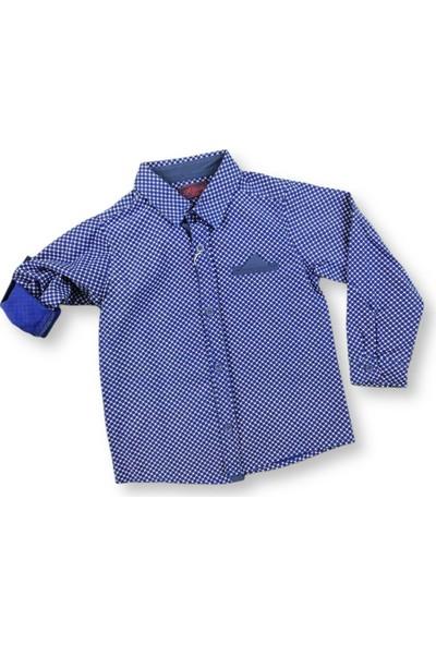 MNK Lacivert Katlamalı Kol Erkek Çocuk Gömlek