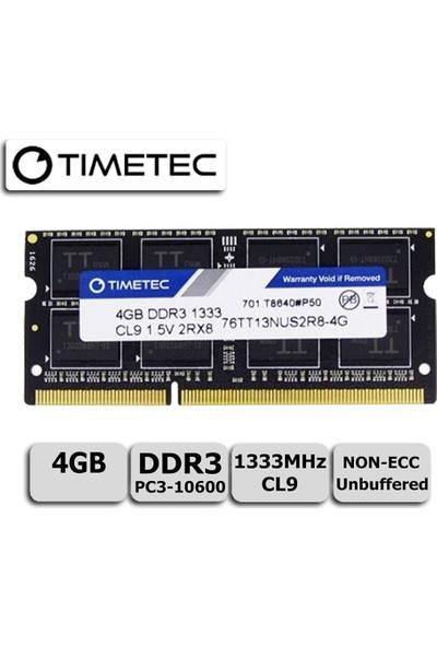 Timetec 76TT13NUS2R8-4G 4 GB DDR3 1333 MHz CL9 Notebook Ram