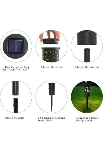 My Black Solar Güneş Enerjili Bahçe Lambası Love Yazısı Yansıtmalı 6'lı Set