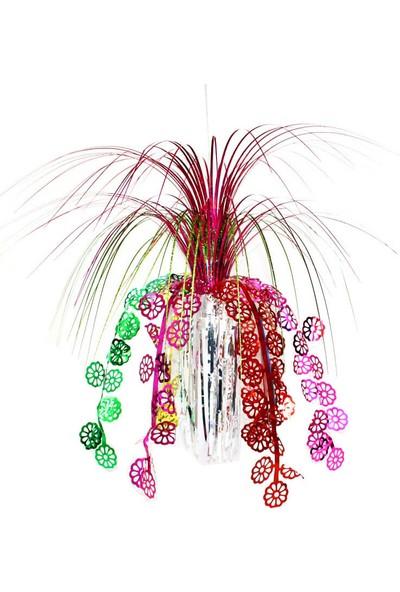 Süsle Bebek Parti Kar Taneli 45 cm Palmiye Süs Fuşya