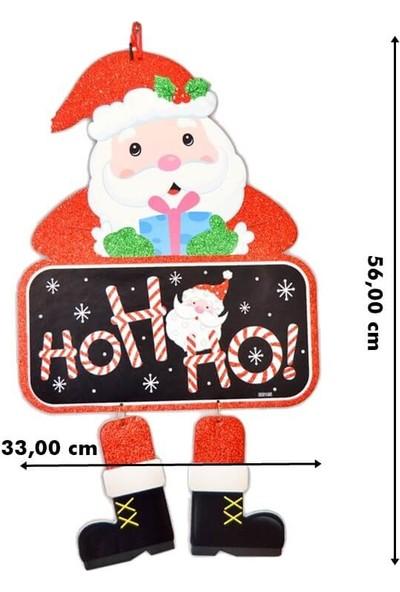 Süsle Bebek Parti Noel Baba Ho Ho Ho Asma Süs 56 cm