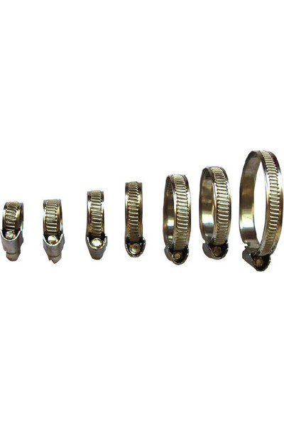 Zembil Ayarlı Hortum Boru Metal Sıkma Kelepçesi 9mm 10X16 (2 Adet)