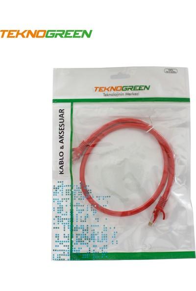 Teknogreen TKC-006K Utp Cat6 60 cm Kırmızı Patch Kablo