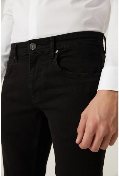 D'S Damat Tween Super Slim Fit Siyah Denim Pantolon