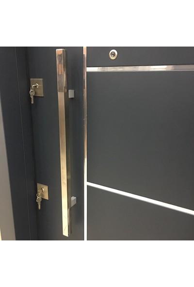 80 cm Parlak Paslanmaz Lidya Çelik Kapı Çekme Kolu