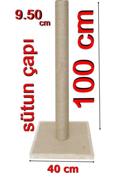 Turkuaz Tırmalama100cm Kule Kedi Tırmalama Tr100 bej