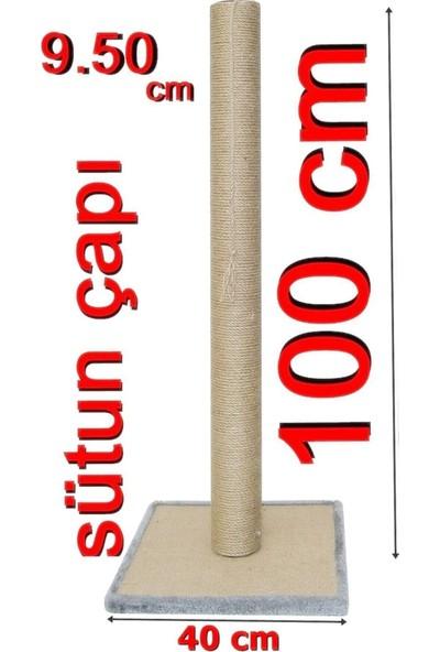 Turkuaz Tırmalama100cm Kule Kedi Tırmalama Tr100 antrasit
