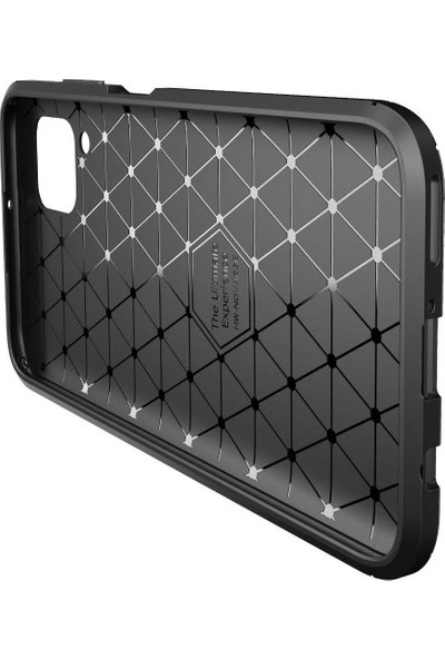 Dtech Samsung Galaxy M11 Kılıf Karbon Görünümlü Silikon - Kahverengi