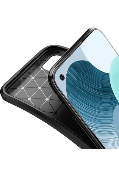 Dtech Huawei Y8P Kılıf Karbon Görünümlü Silikon - Siyah