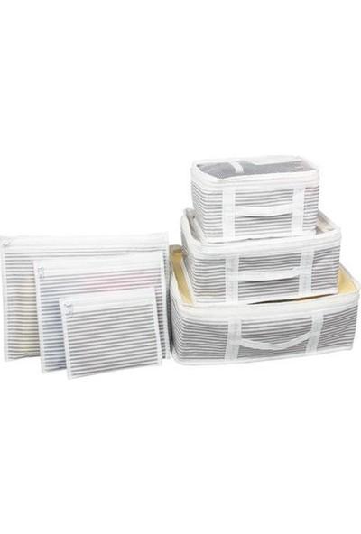 Tamithalat Bavul Içi Düzenleyici Valiz Organizer 6'lı Set - Çizgili