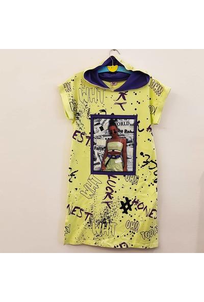Beneti Kız Çocuk Kapişonlu Elbise