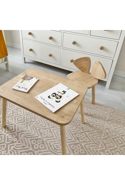 Mickey Masa + Sandalye Montessori Bebek ve Çocuk Çalışma Masası