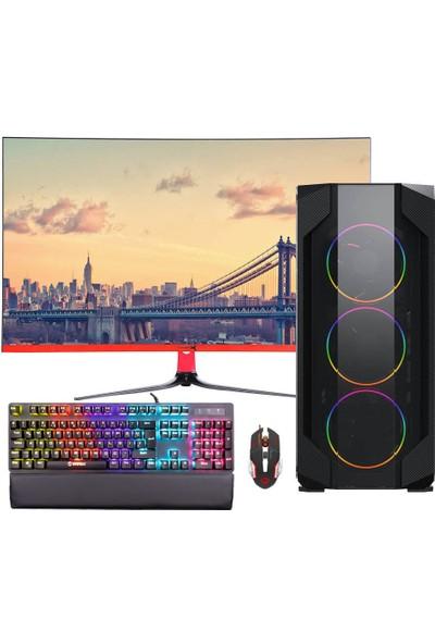"""Dragos ATM00000400 Intel Core i5 10400F 8GB 512GB SSD RX550 Freedos 27"""" FHD Masaüstü Bilgisayar"""