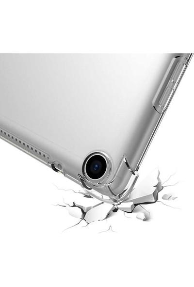 "Aşksesuar Samsung Galaxy Tab S6 Lite P610 10.4"" Kılıf Antishock Süper Tpu Silikontablet Kılıfı + Nano Ekran Koruyucu+Kalem Şeffaf"