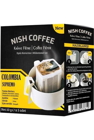 Nish Pratik Filtre Kahve 2xcolombia - 2xguatemala - 2xkenya - 2xyüksek Kafein 8li