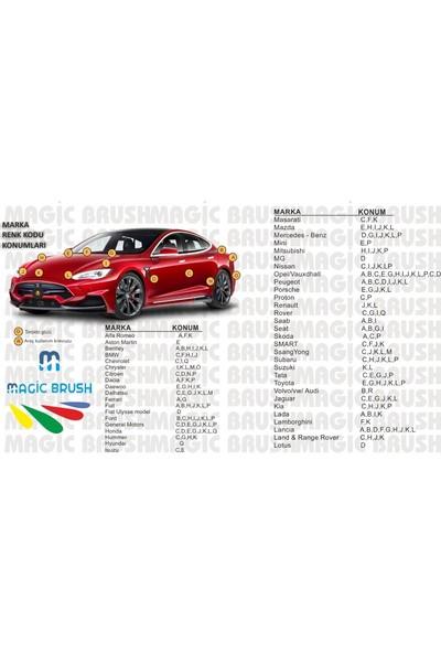Magic Brush Profesyonel Kit   Opel Zafıra Rıoja Red Met 50W Rötuş Boyası