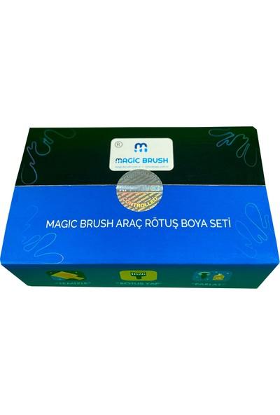 Magic Brush Profesyonel Kit   Peugeot All Grıs Gallıum Met M09B Rötuş Boyası
