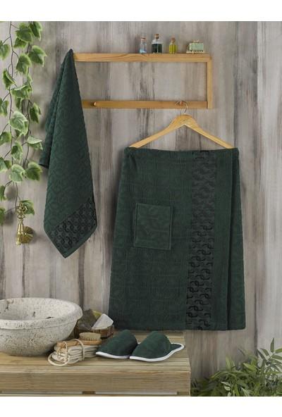 Philippus Erkek Sauna Havlu Seti Yeşil
