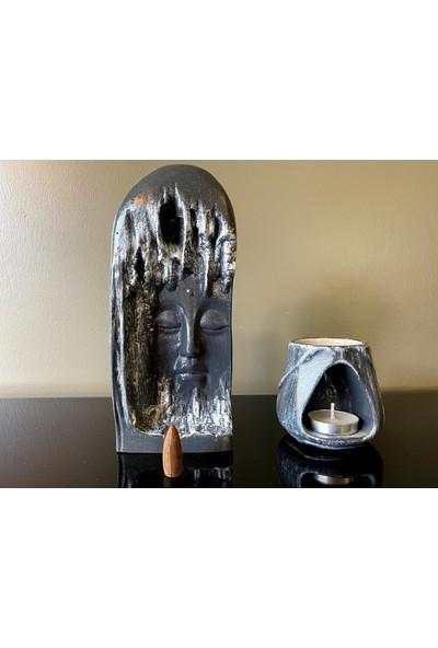 Talya Art Design 2'li Set, Geri Akış Tütsülük ve T.a.d. Buhurdanlık, Renk Seçenekli Ürün.
