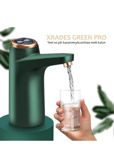 Xrades Green Pro Şarjlı Damacana Su Pompası Yeşil 2